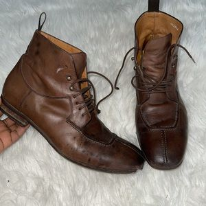 Paul smith men leather lace up boots
